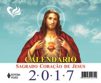 CALENDARIO DE MESA SAGRADO CORAÇAO DE JESUS 2017
