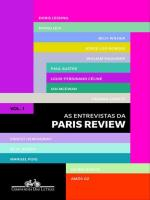 AS ENTREVISTAS DA PARIS REVIEW - VOL. 1