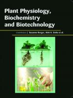 PLANT PHYSIOLOGY, BIOCHEMISTRY AND BIOTECHNOLOGY