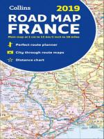 COLLINS ROAD MAP OF FRANCE - 2019