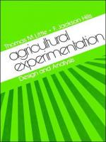 AGRICULTURAL EXPERIMENTATION - DESIGN AND ANALYSIS
